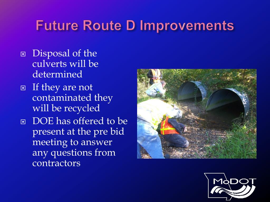 Future Route D Improvements