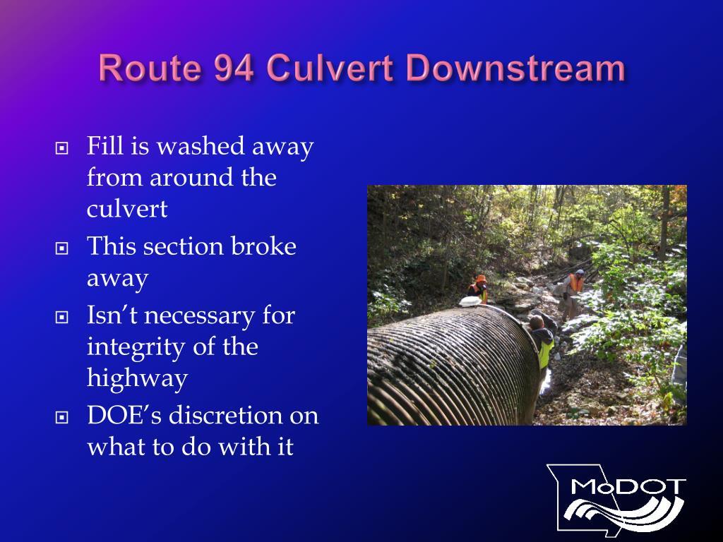 Route 94 Culvert Downstream