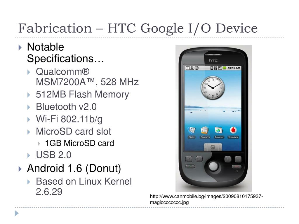 Fabrication – HTC Google I/O Device