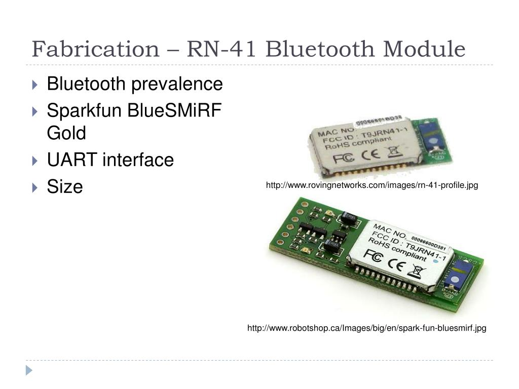 Fabrication – RN-41 Bluetooth Module