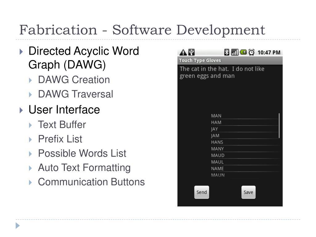 Fabrication - Software Development