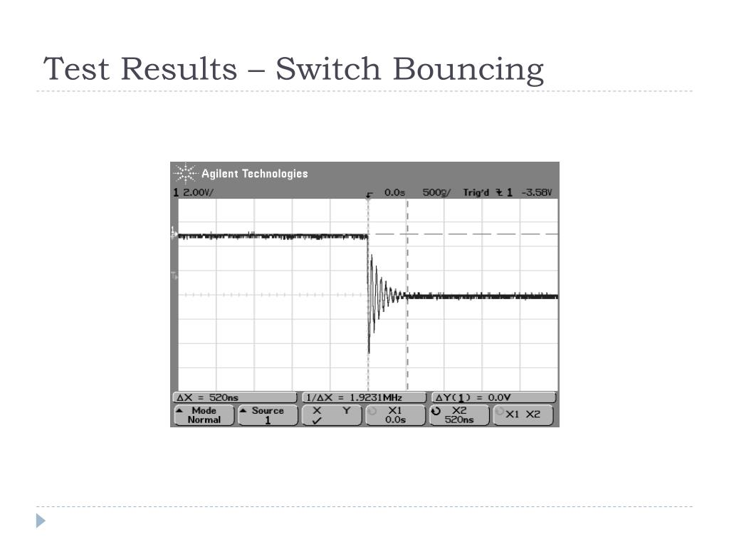 Test Results – Switch Bouncing