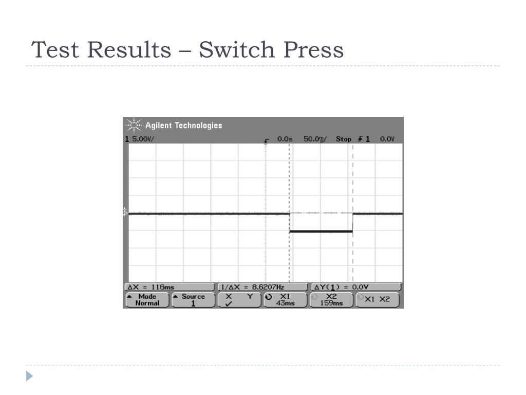 Test Results – Switch Press