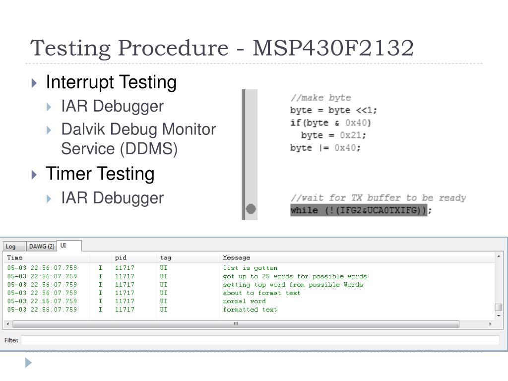 Testing Procedure - MSP430F2132
