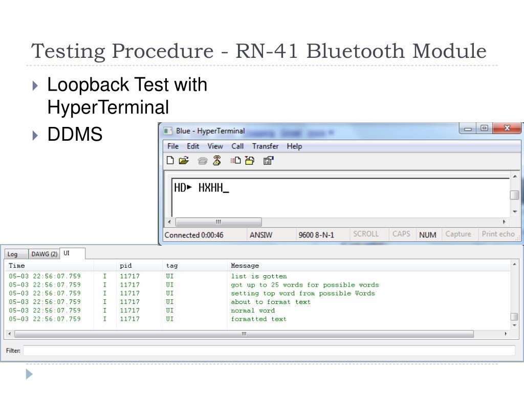 Testing Procedure - RN-41