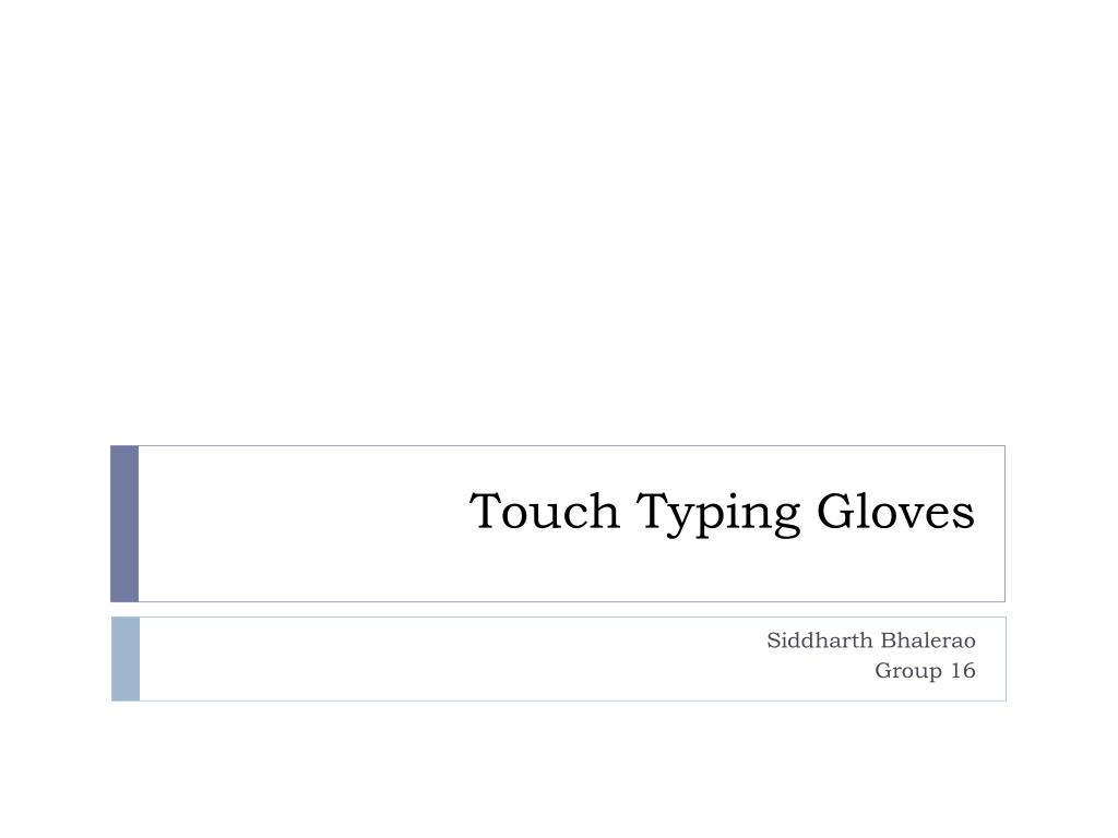 touch typing gloves