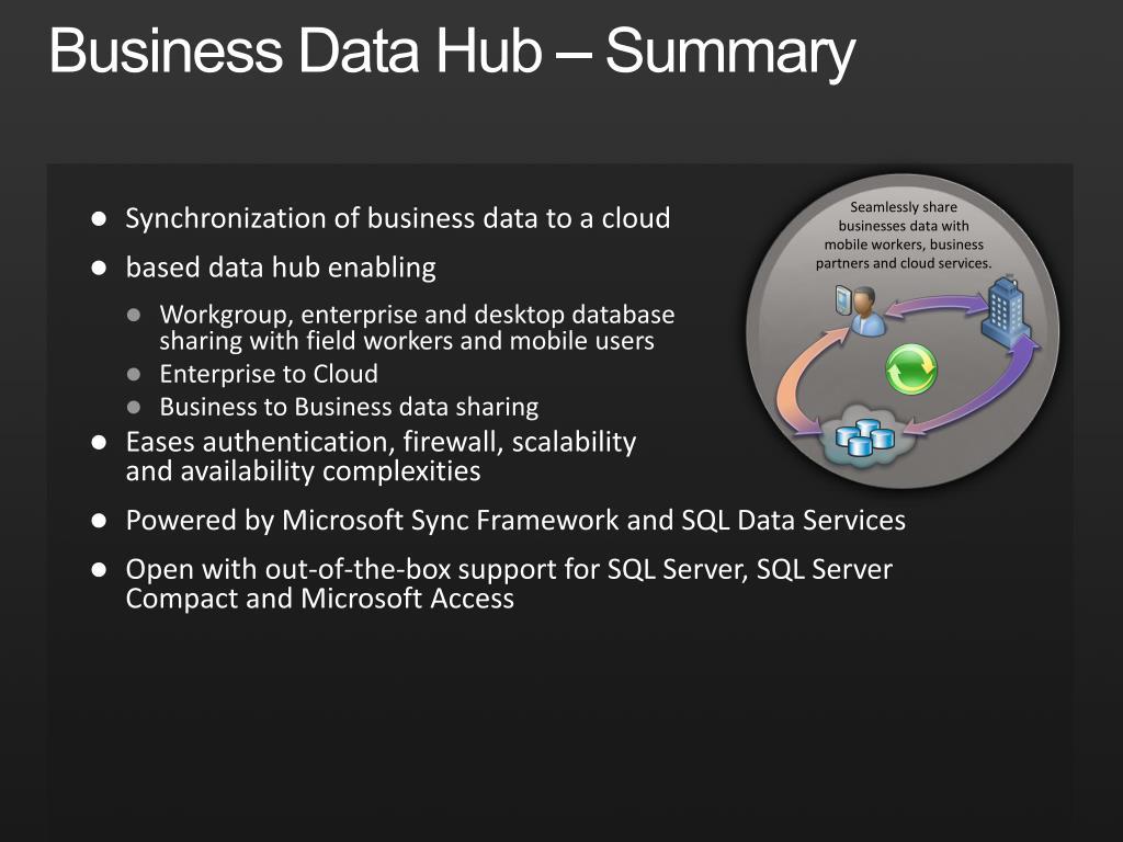 Business Data Hub – Summary