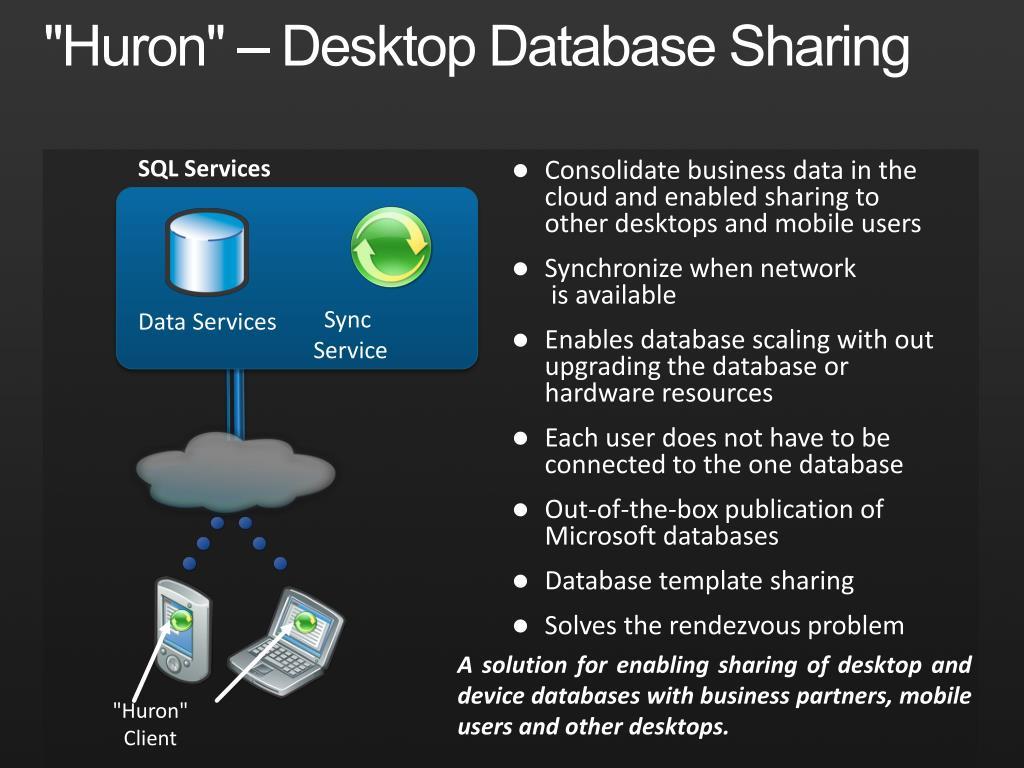 """""""Huron"""" – Desktop Database Sharing"""
