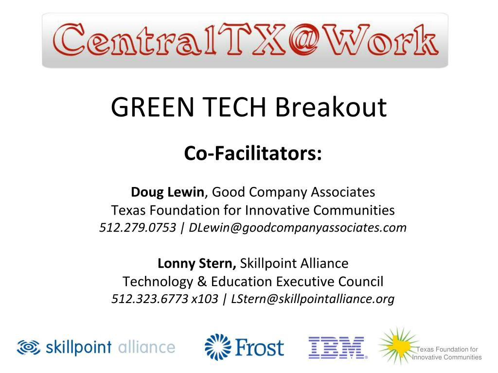 green tech breakout