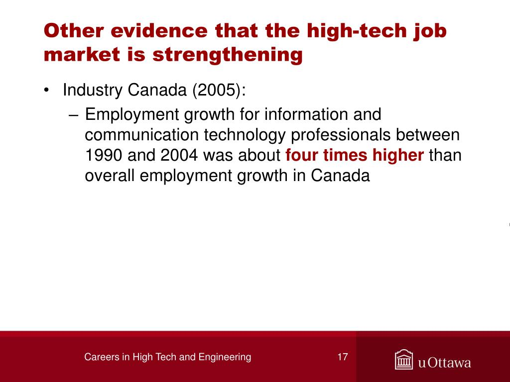 Other evidence that the high-tech job market is strengthening