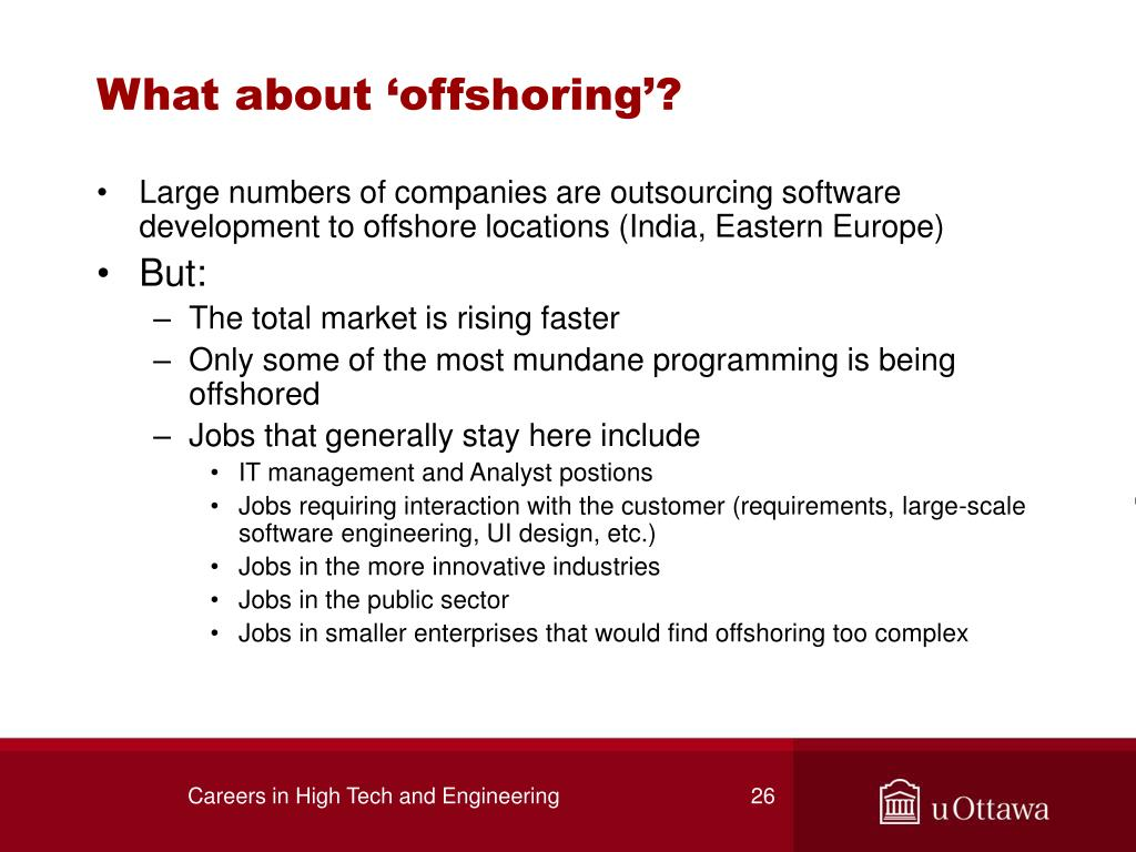 What about 'offshoring'?