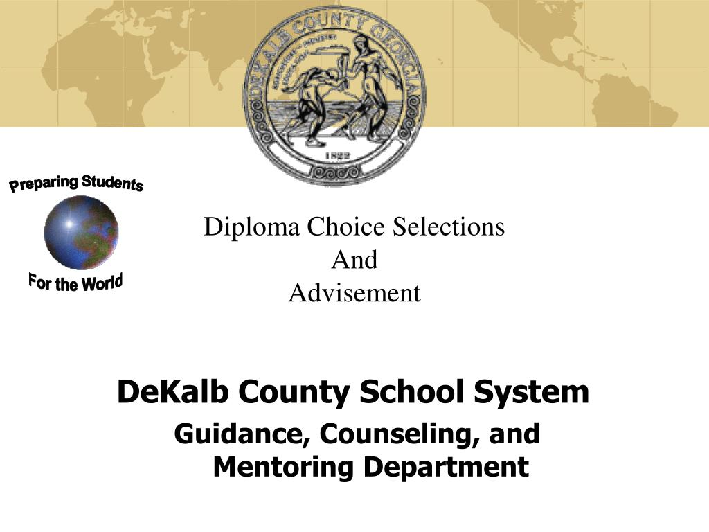 Diploma Choice Selections