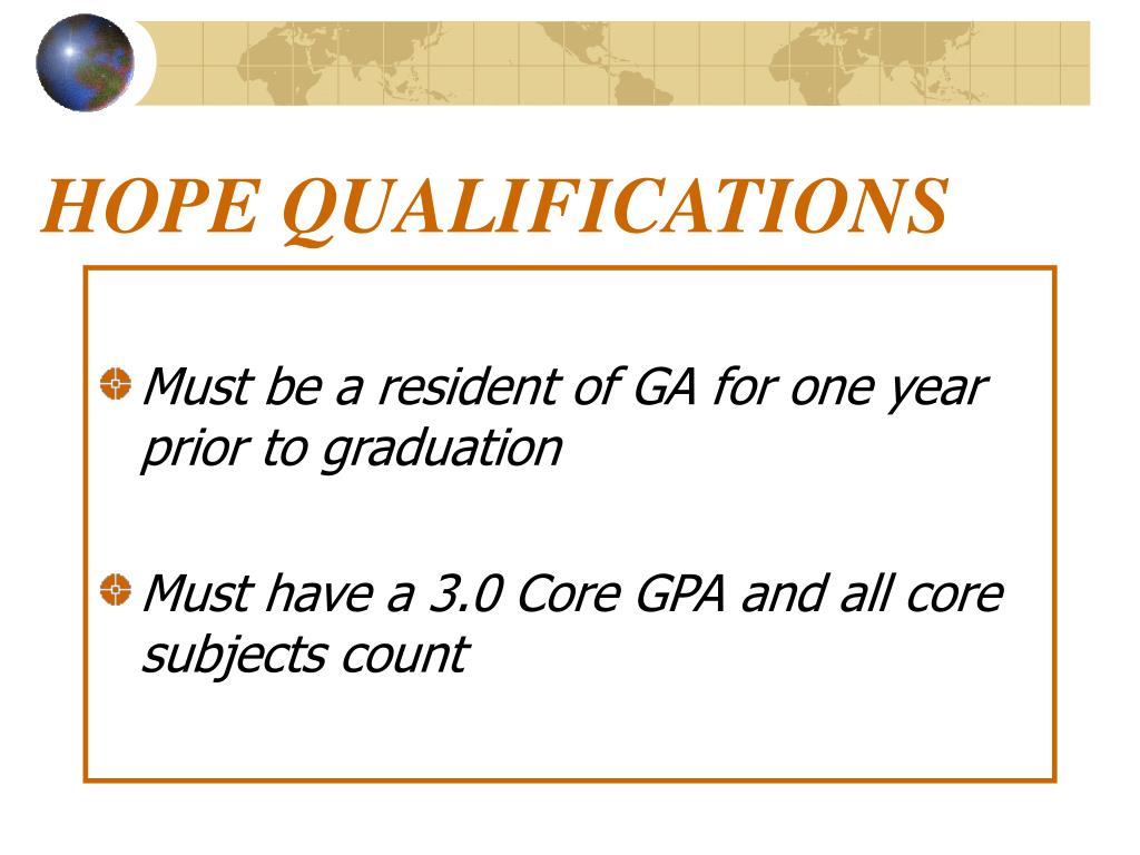 HOPE QUALIFICATIONS