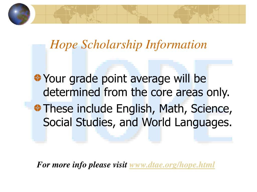 Hope Scholarship Information