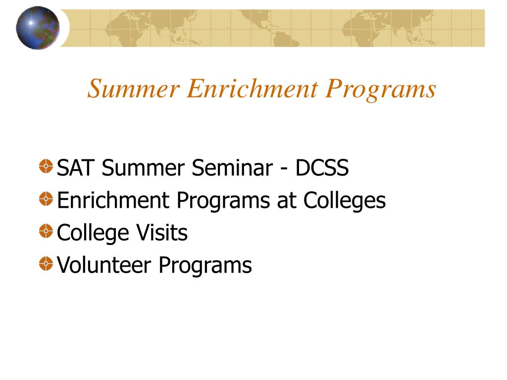 Summer Enrichment Programs