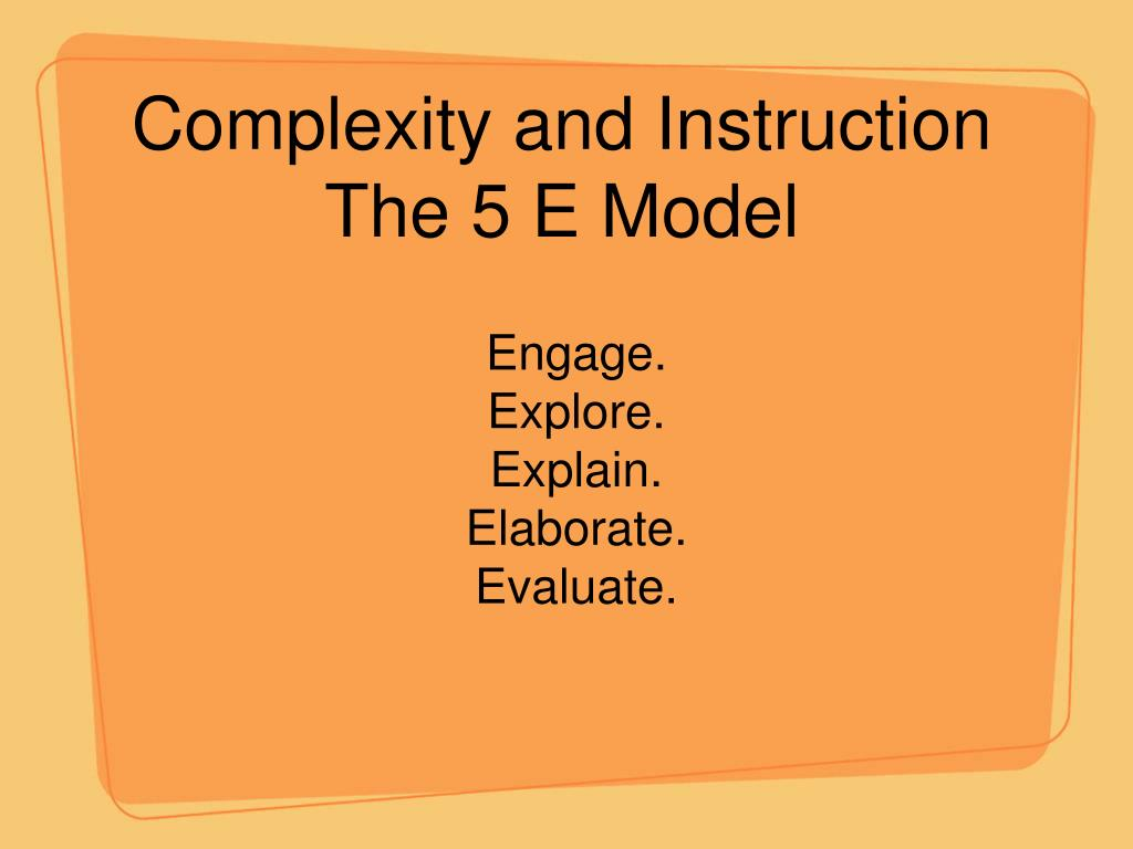 Complexity and Instruction
