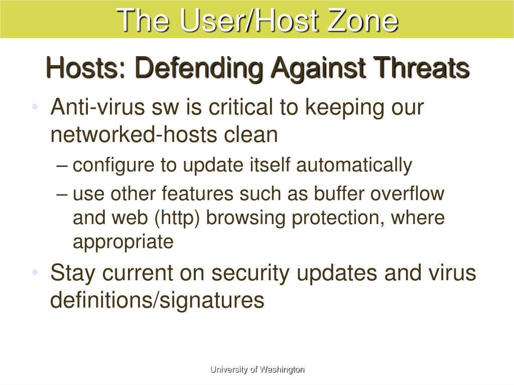 Hosts: Defending Against Threats