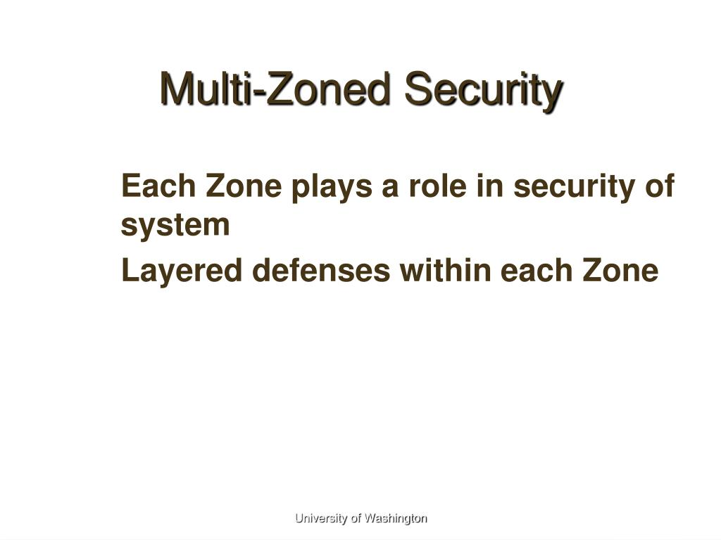 Multi-Zoned Security