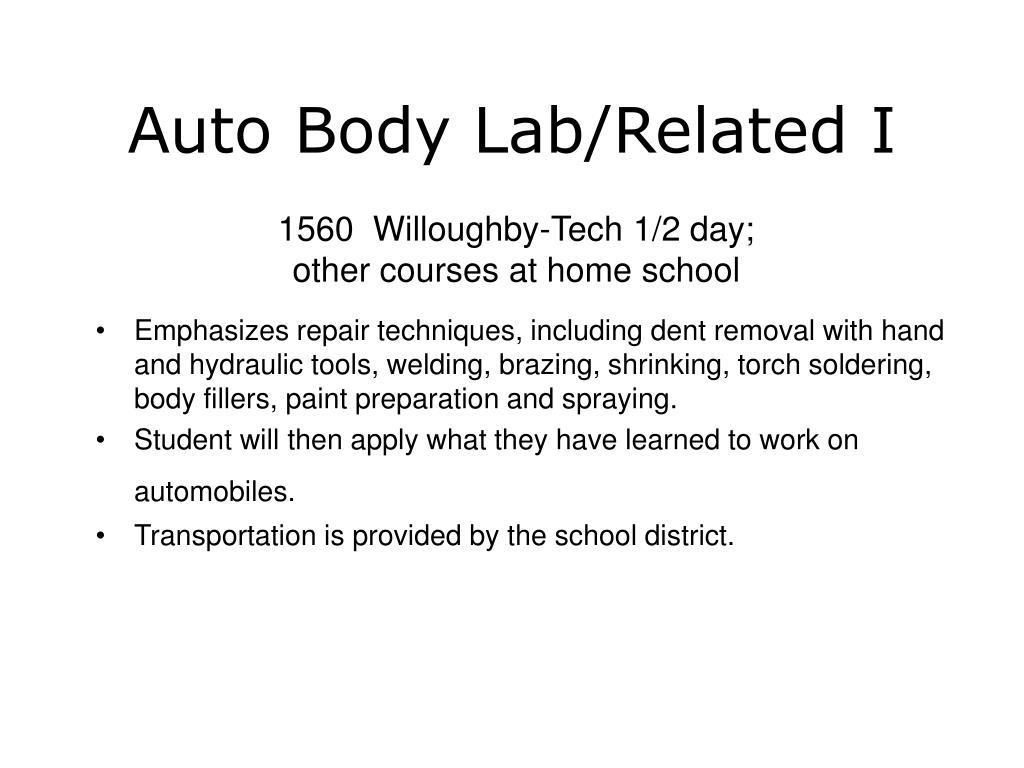 Auto Body Lab/Related I