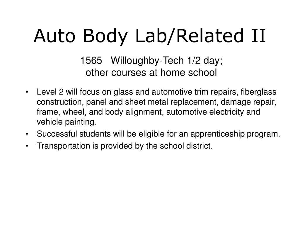 Auto Body Lab/Related II