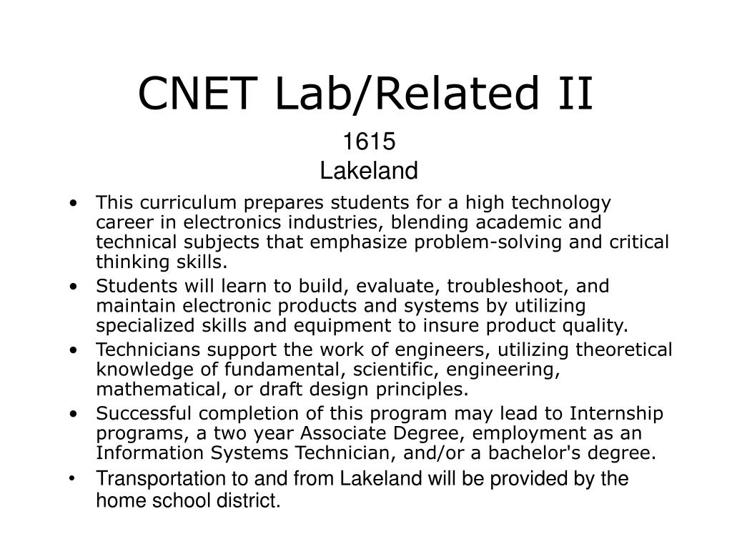 CNET Lab/Related II