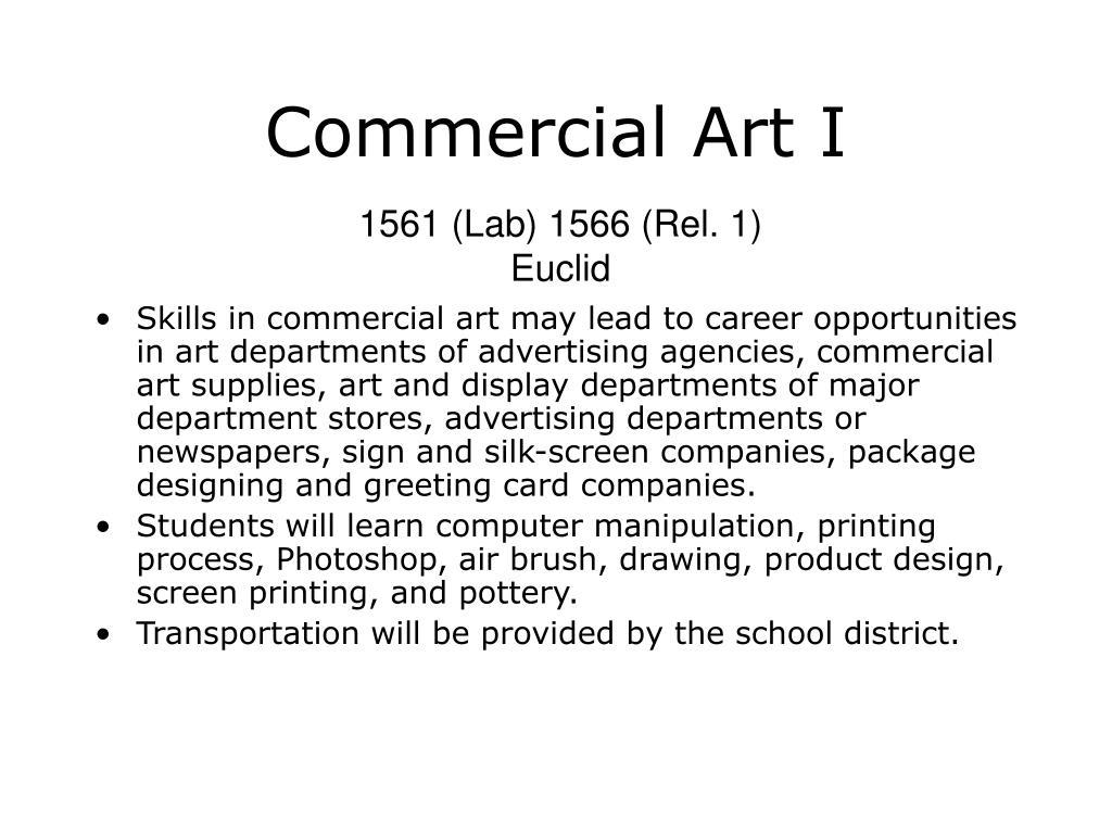 Commercial Art I