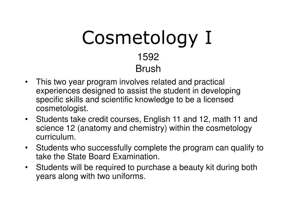 Cosmetology I