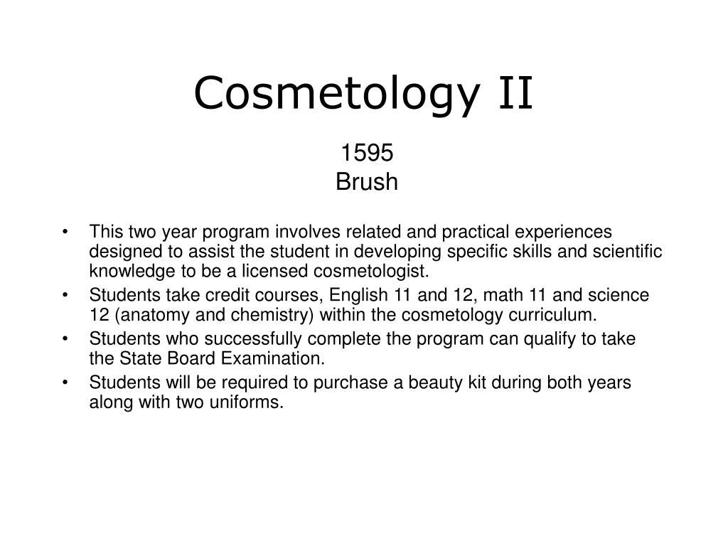 Cosmetology II