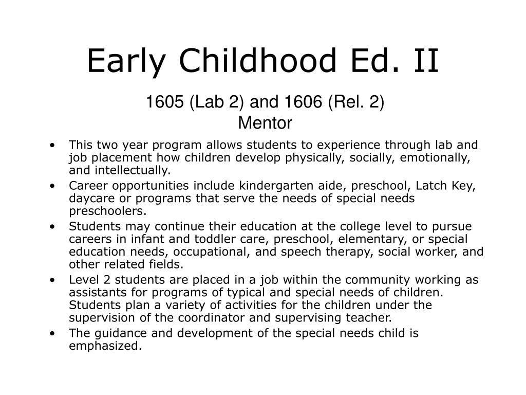 Early Childhood Ed. II