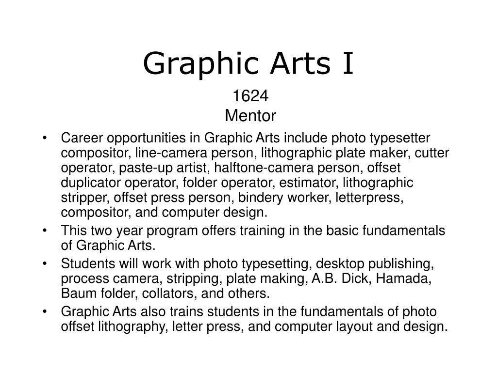 Graphic Arts I