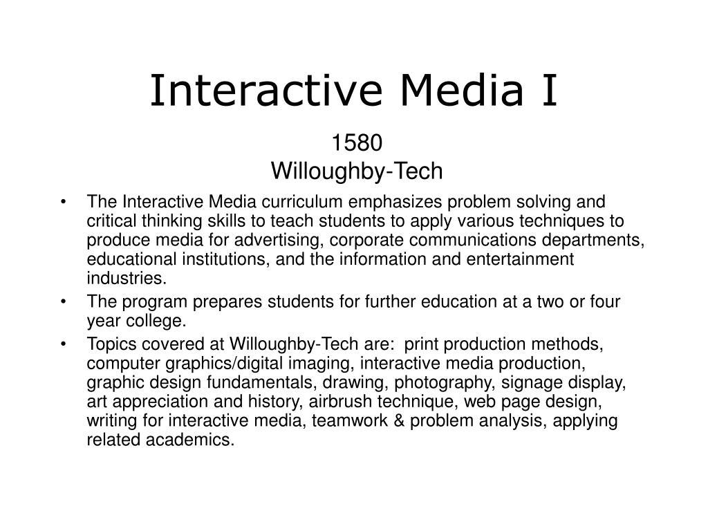 Interactive Media I
