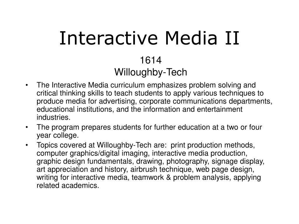 Interactive Media II