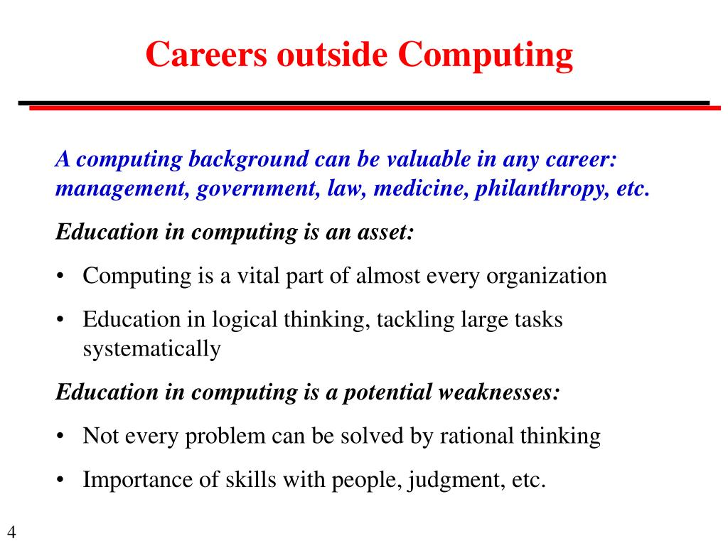 Careers outside Computing