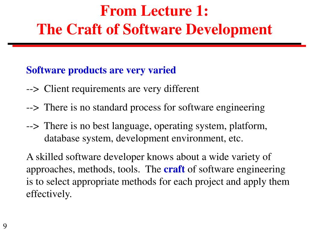 From Lecture 1: