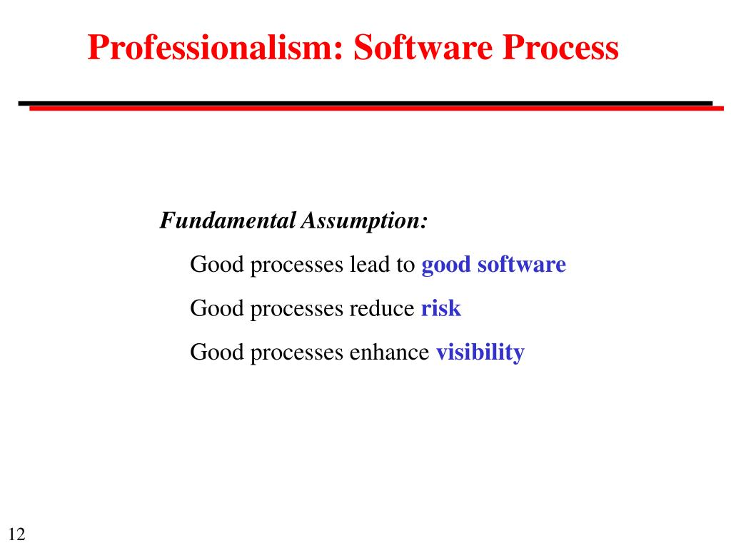 Professionalism: Software Process