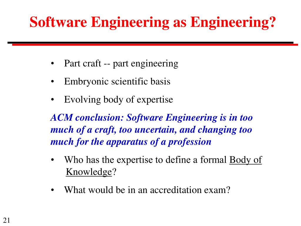 Software Engineering as Engineering?
