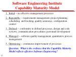 software engineering institute capability maturity model