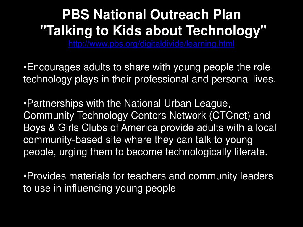 PBS National Outreach Plan
