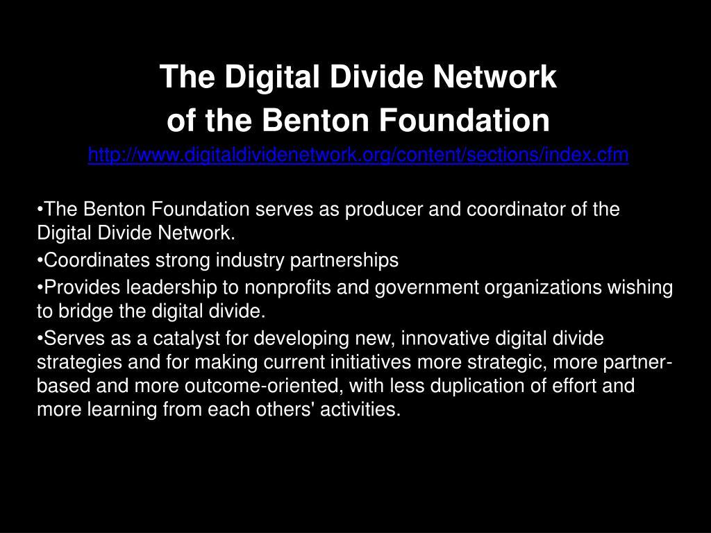 The Digital Divide Network