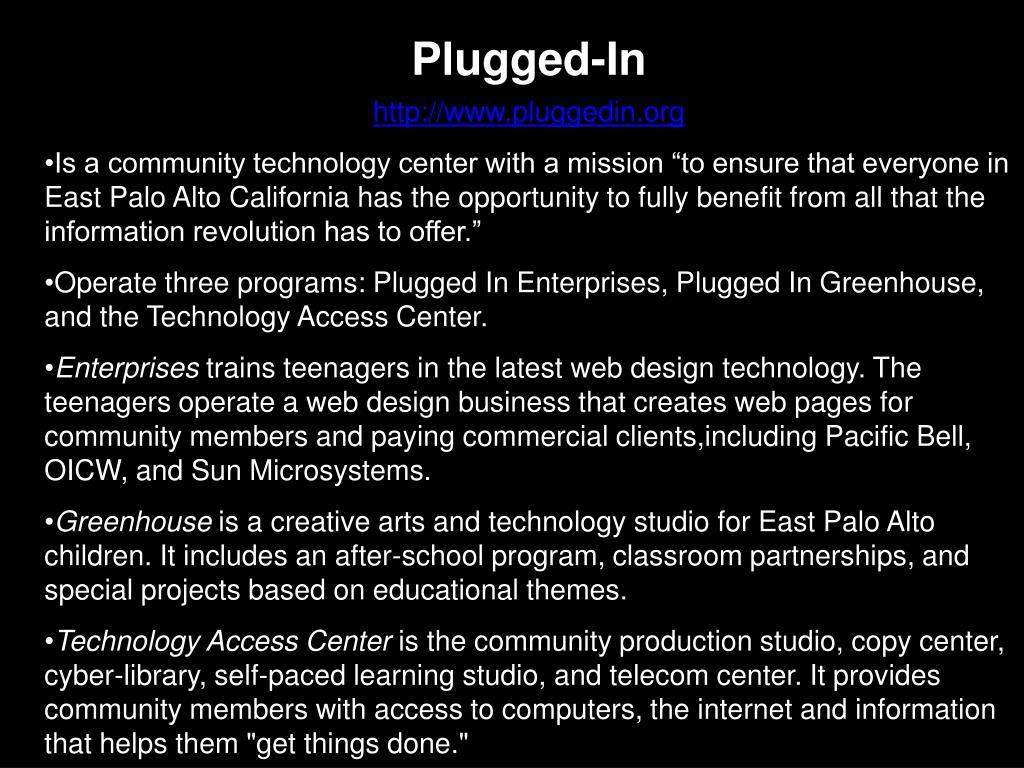 Plugged-In