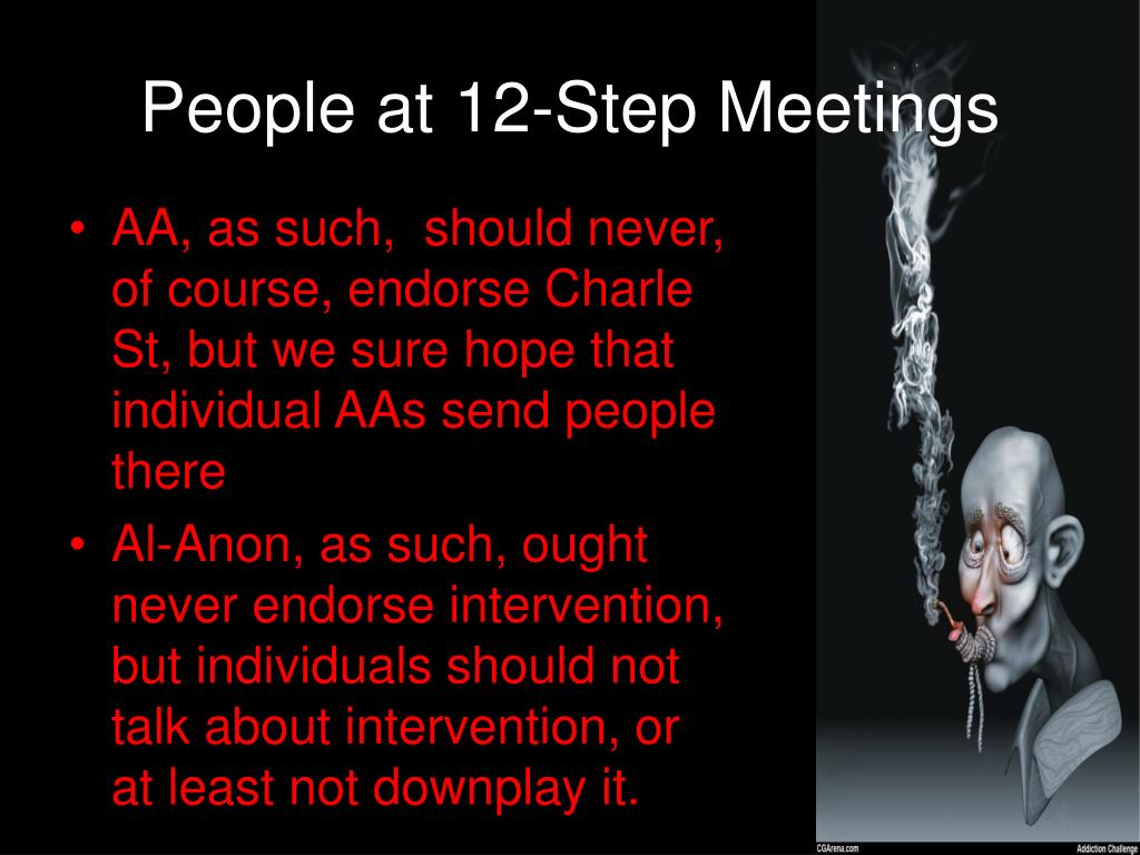 People at 12-Step Meetings