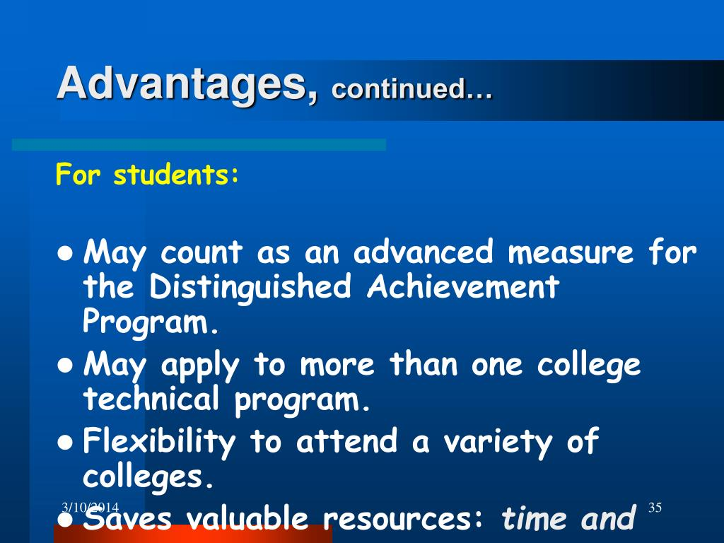 Advantages,