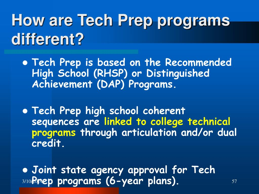 How are Tech Prep programs different?