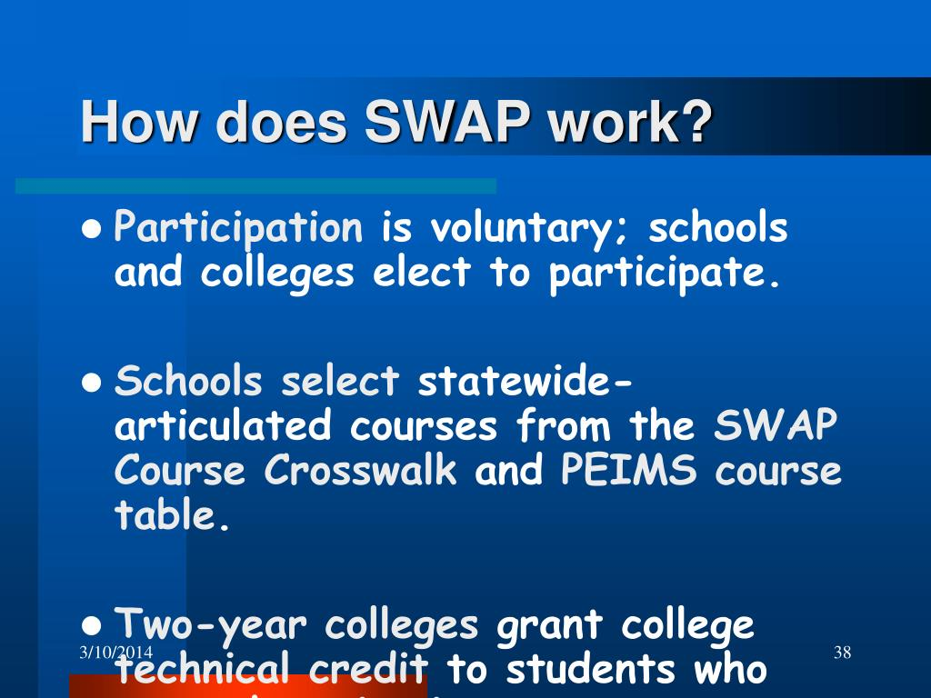 How does SWAP work?