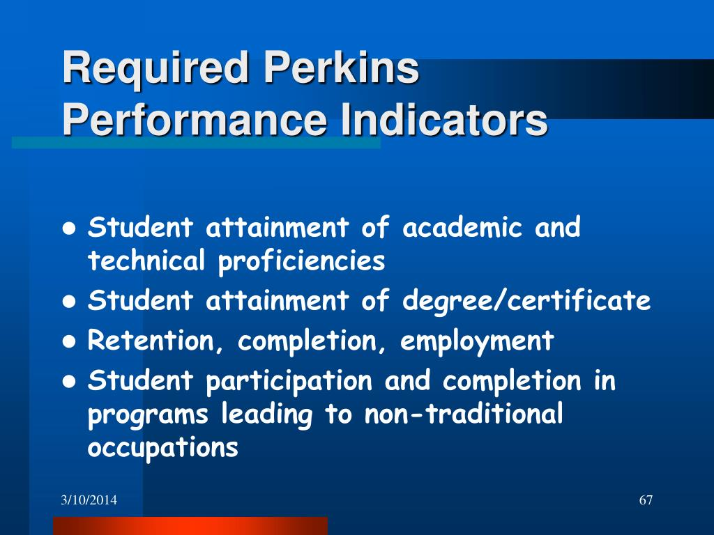 Required Perkins Performance Indicators