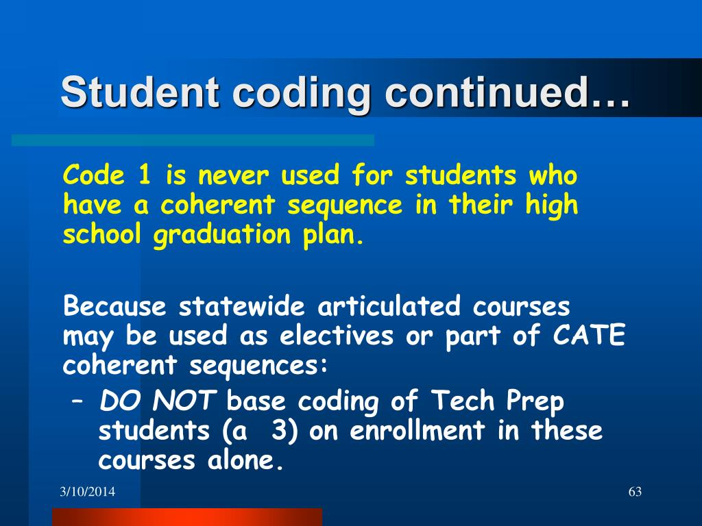 Student coding continued…