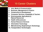 10 career clusters