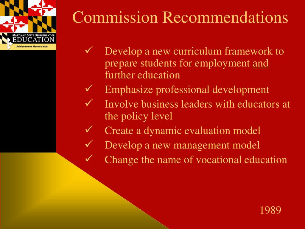 Commission Recommendations