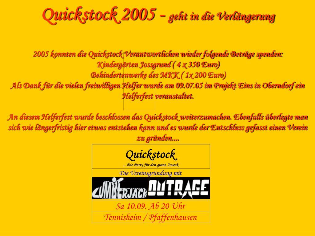 Quickstock 2005 -