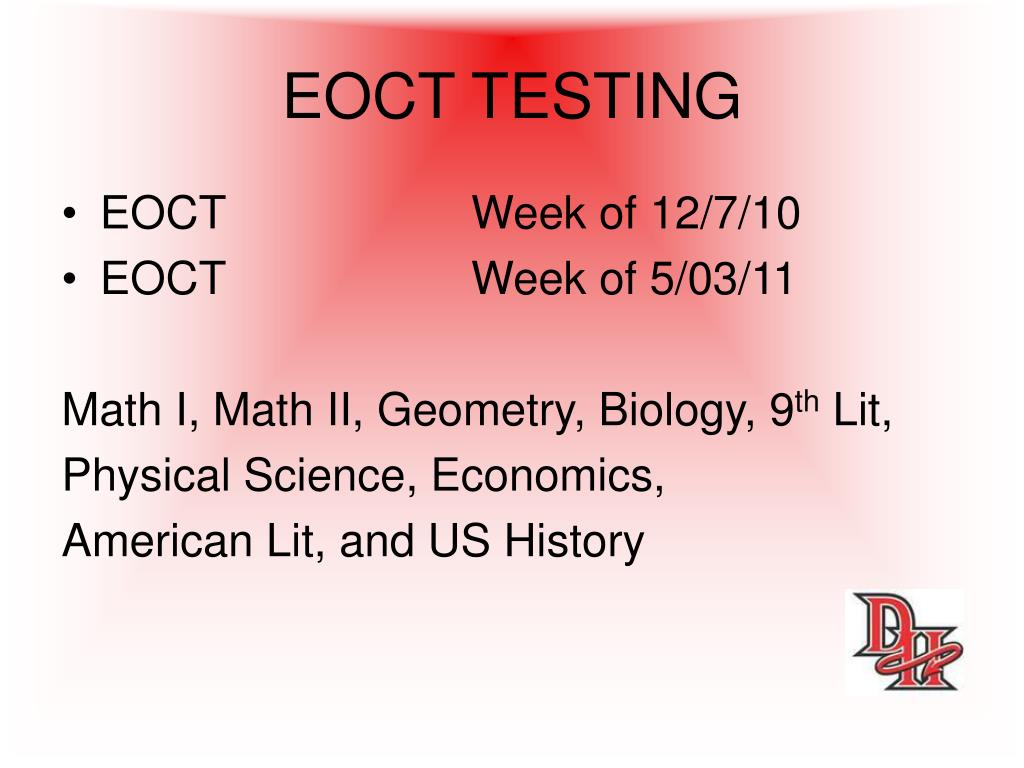 EOCT TESTING